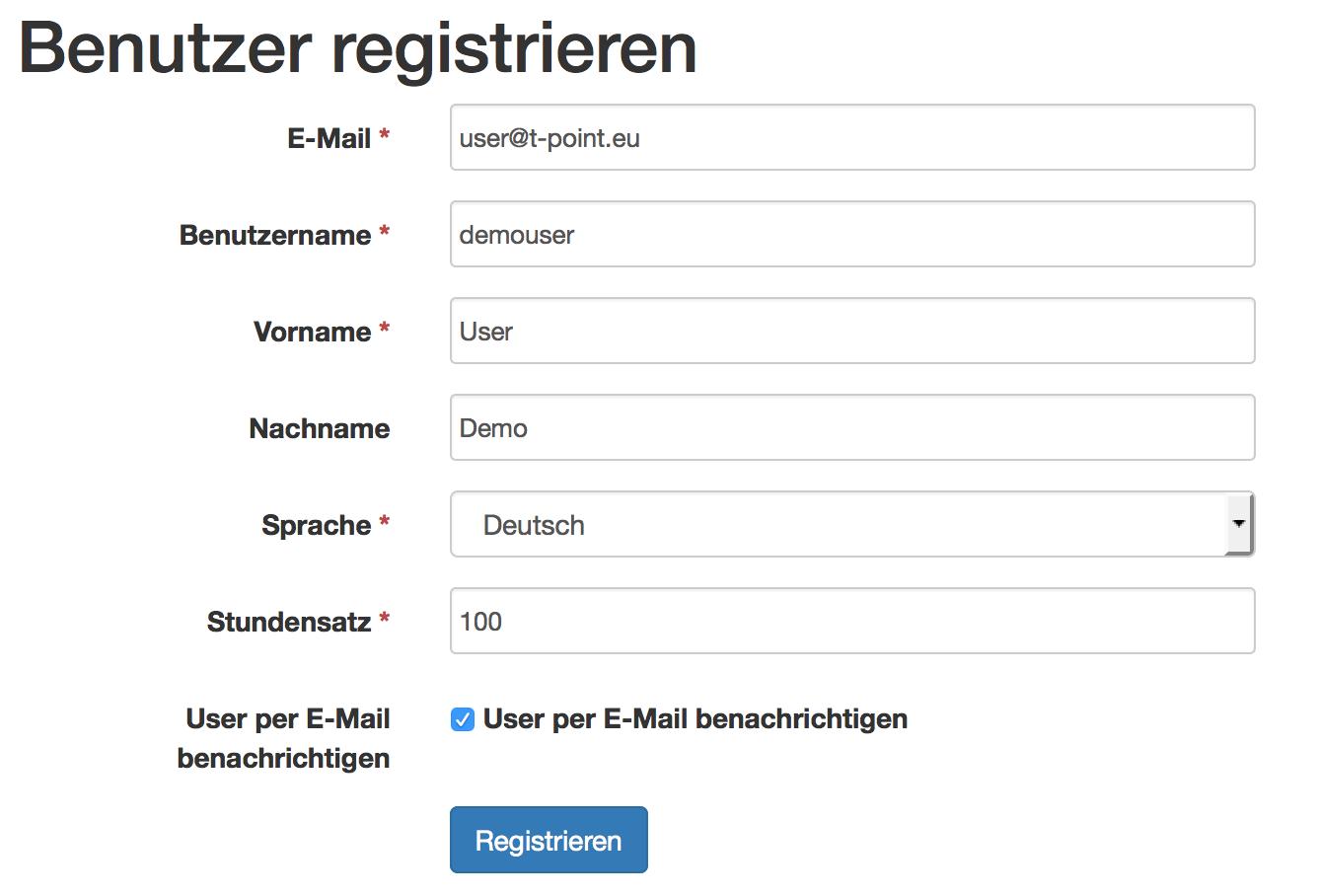 User-Formular