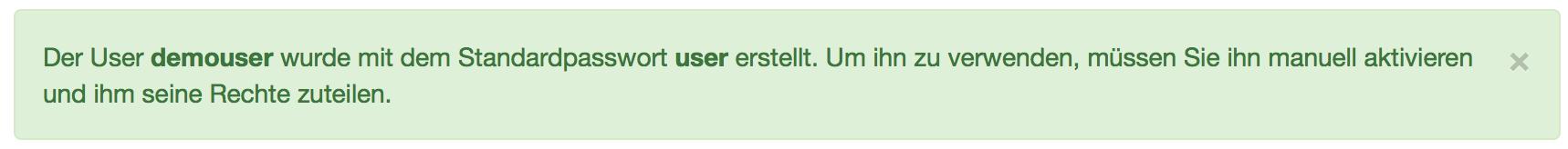User-Passwort-Anzeige